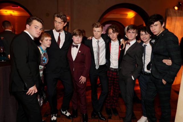 Jake Sim and the IT cast at the IT after party