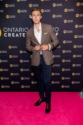 Donald MacLean Jr. at the OnCreates party for TIFF 2019