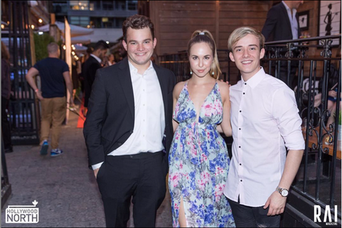 Jake Sim, Sofie Holland, and Mathew Edmondson at the Hollywood North Party for TIFF 2017