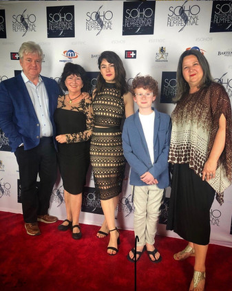 Keegan Hedley at the Soho International Film Festival screening of Never Saw it Coming