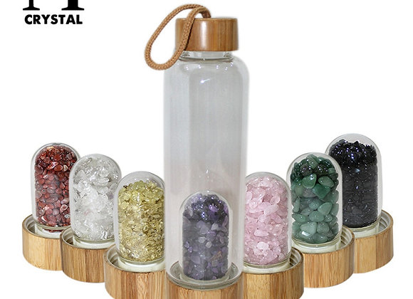 Water Bottle with Crystals