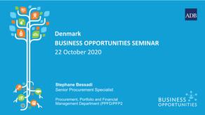 Webinar summary: Business Opportunities Seminar with the Asian Development Bank - October 22nd