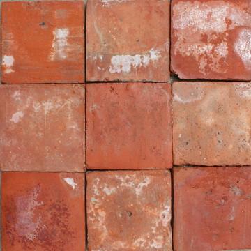 8″ red French Terracotta flooring tiles