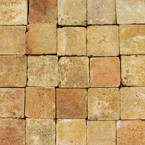 4″ square blonde French Terracotta flooring tiles