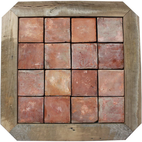 French Terracotta Wood Inlay