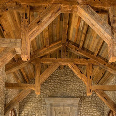 Handhewn Oak Beams