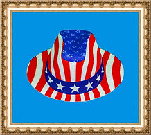 kapelusz amerykański,kapelusz z nadrukiem,kapelusz kowbojski