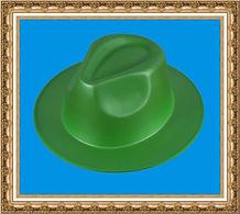 kapelusz gangsterski zielony,kapelusz reklamowy z pianki