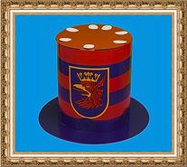 Top hat,wysoki cylinder,Kapelusz cylinder, Kapelusz kartonowy, kapelusz kartonowy składany z dwóch części,kapelusz reklamowy,kapelusz z nadrukiem