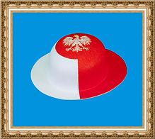 melonik z tkaniny z nadrukiem ,melonik kibica,kapelusz kibica