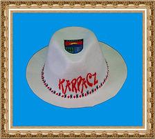 kapelusz gangsterski z tkaniny z nadrukiem KT6