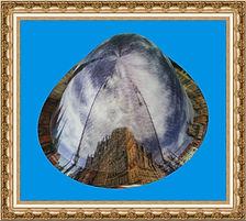 kapelusz tyrolski z tkaniny z nadrukiem KT12