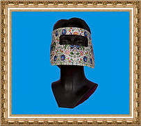 przyłbica kartonowa,maska papierowa,maska kartonowa,maska reklamowa,maska na event,maska z nadrukiem,maska dla dzieci,maska Elfa,maska świąteczna