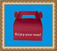 Lunchbox DIY z kartonu, lunchbox składany, Do It Yourself,lunchbox z nadrukiem,Zrób to sam,lunchbox z kartonu