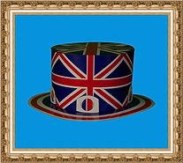 Kapelusz cylinder, Kapelusz kartonowy typu cylinder brytyjski, składany z dwóch części,Kapelusz kartonowy,kapelusz reklamowy,kapelusz z nadrukiem