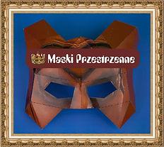 Maska przestrzenna MPK,Maski kartonowe,maski z nadrukiem,maski origami,maski sklejane