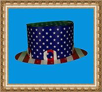 Kapelusz cylinder, Kapelusz kartonowy typu cylinder amerykański, składany z dwóch cześci,Kapelusz kartonowy,kapelusz reklamowy,kapelusz z nadrukiem