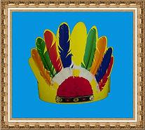 czapka kartonowa,czapka z nadrukiem,czapka reklamowa,pióropusz indiański