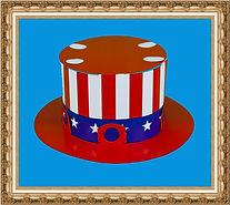 Kapelusz cylinder, Kapelusz kartonowy typu cylinder amerykański, składany z dwóch części,Kapelusz kartonowy,kapelusz reklamowy,kapelusz z nadrukiem