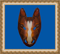 maska konia, maska przestrzenna,maska papierowa,maska kartonowa,maska reklamowa,maska na event,maska z nadrukiem,maska dla dzieci