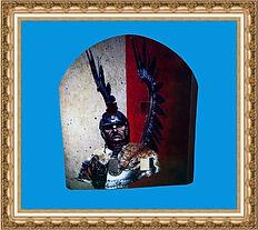 Tarcza kartonowa,tarcza rycerza,tarcza z nadrukiem,tarcza woja