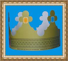 korona reklamowa,korona z nadrukiem,trzech króli,sześciu króli