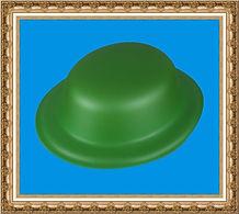 melonik z pianki zielony,kapelusz reklamowy z pianki