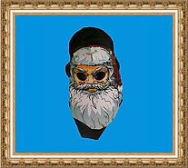 Maska Mikołaja, maska karnawałowa,maska kartonowa, maska z nadrukiem, maska reklamowa, maska na gumce