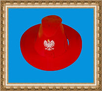 Kapelusz kowbojski, Kapelusz kartonowy kowbojski składany z dwóch części,wyrób chroniony w UP RP,Kapelusz kartonowy,kapelusz reklamowy,kapelusz z nadrukiem