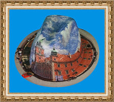 kapelusz kowbojski z tkaniny z nadrukiem KT8