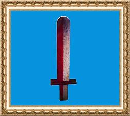 Mierz rycerza,miecz z nadrukiem,miecz składany