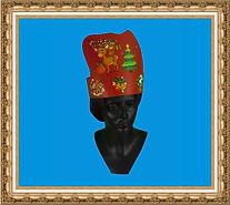 Czapka karnawałowa,czapka renifera,czapka kartonowa,czapka z nadrukiem,czapka świąteczna