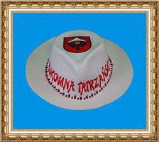 kapelusz gangsterski z tkaniny z nadrukiem KT7