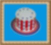 kapelusz kartonowy,cylinder z nadrukiem
