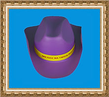 Kapelusz kowbojski z wstążką,kapelusz kowbojski z pianki,kolorowy kapelusz