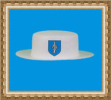 Kapelusz z logo firmowym.kapelusz z tkaniny