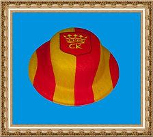kapelusz tyrolski z tkaniny z nadrukiem KT11