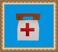 Torba medyka, kartonowa torba,kuferek,torba z nadrukiem, torba lekarska