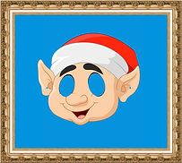 maska papierowa,maska kartonowa,maska reklamowa,maska na event,maska z nadrukiem,maska dla dzieci,maska Elfa,maska świąteczna