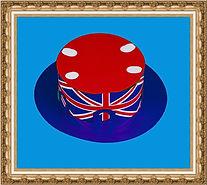 Kanotier, boater, Kapelusz kartonowy typu kanotier lub boater składany z dwóch części,Kapelusz kartonowy,kapelusz reklamowy,kapelusz z nadrukiem