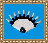 Wachlarz kartonowy,wachlarz papierowy,wachlarz reklamowy,wachlarz z nadrukiem,wachlarz składany,wachlarz kształtowy