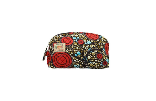 KEVIE Cosmetics Bag: Bubbles Kitenge - available in 3 sizes