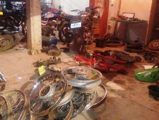 Ejército y CTI se tomó La Bendición. Fueron incautadas 5 motocicletas robadas