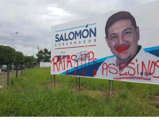 Campaña de Salomón Sanabria, rechaza totalmente manifestaciones antisociales en contra de su publici