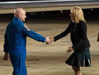 El recibimiento del astronauta Scott Kelly en Estados Unidos