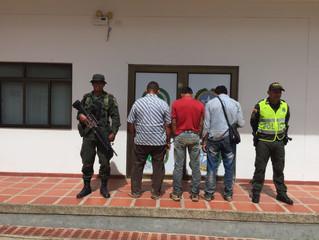 6 capturados señalados del delito de abigeato en Casanare