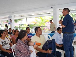 Salomón Sanabria se reunió con líderes comunales en Aguazul y estableció compromisos