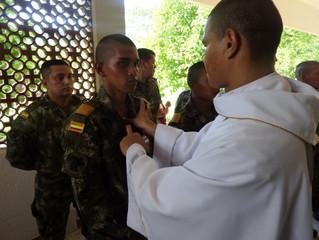 74 soldados del Ejército Nacional recibieron sacramentos religiosos