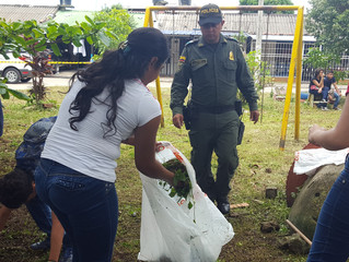 La Policía Nacional recupera parques en Yopal
