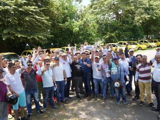 Apoyo del gremio de taxistas a campaña de Salomón Sanabria